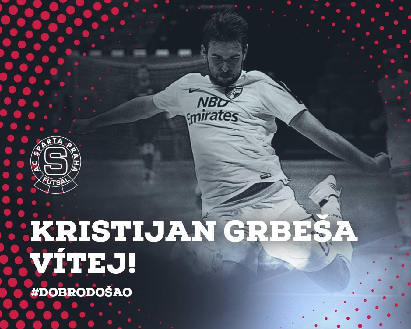 Prozatím poslední posilou Sparty před startem nové sezony je Kristijan Grbeša