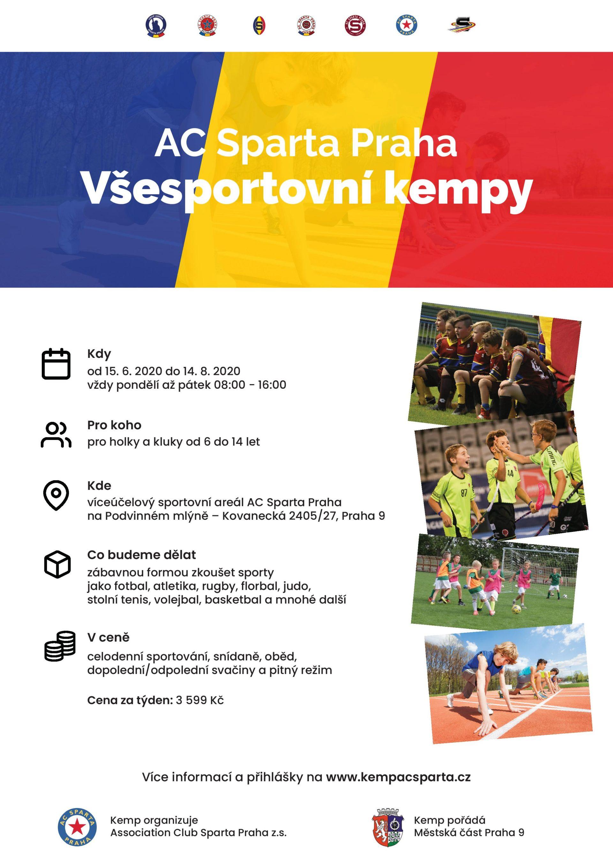 AC Sparta Praha z.s. otevírá všesportovní kempy